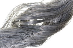 Twisted steel wire Stock Images