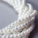 Twisted strands of nacre pearls Royalty Free Stock Image