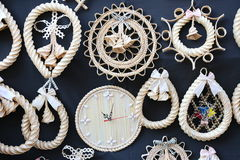 Twisted straw crafts Royalty Free Stock Images