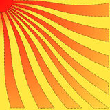 Twisted sun. Yellow, orange and red twisted sun Royalty Free Stock Image