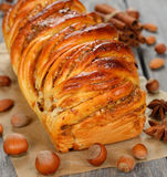 Twisted sweet bread Stock Photos