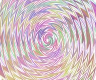 Twisted texture-pastel colours-on white Stock Image