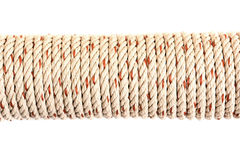 Twisted thick rope isolated on white background. Stock Images
