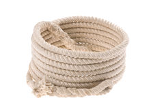Twisted thick rope Royalty Free Stock Images