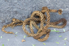 Twisted thick rope Royalty Free Stock Photography