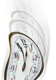 Twisted time on clock face Stock Photography
