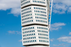 Twisted Torso. The highest skyscraper in Nordic countries is Twisted Torso in Malmo, Sweden. Art work designed by Gustavo Calatrava Stock Images