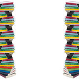 Twisted tower of colorful real books royalty free stock photography