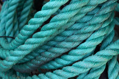 Twisted turquoise rope. Stock Photography