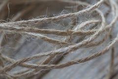 Twisted tvinnar kabelmakro Arkivfoton