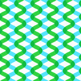 Twisted vertical waves. Seamless vector pattern Stock Photos