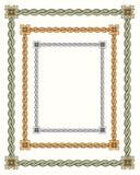 3 twisted vintage rope frames Stock Image
