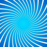 Twisted white radial, radiating lines over bright, vivid blue ba Stock Photos