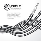 Twisted wire, solid and stranded cable. Vector illustration Stock Photos