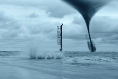 Twister auf dem Meer Lizenzfreie Stockfotografie