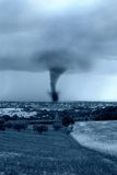 Twister on the city. Twister hits the city in the afternoon Stock Photos