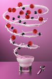 Twister do Yogurt Fotografia de Stock