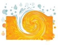 Twister e bolhas azuis Fotos de Stock Royalty Free