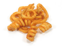 Twister fries. In isolated white Stock Images