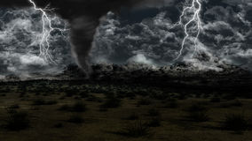 Twister in grassy landscape Royalty Free Stock Images