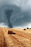 Twister incoming from horizon Stock Image
