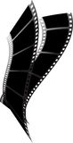 Twister preto da película Imagens de Stock Royalty Free