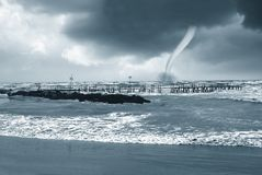 Twister on the sea Stock Images