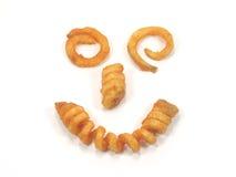Twister steekt het glimlachen gezicht in brand Stock Afbeeldingen
