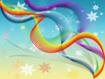 Twisting Background Means Colored Wavy And Flowers Stock Photos