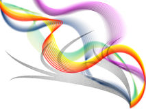 Twisting Background Shows Colorful Curving Bands And Shadows Royalty Free Stock Image