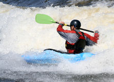 Twisting Kayaker Royalty Free Stock Photos