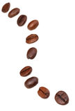 Twisting line from roasted coffee beans Stock Image
