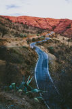 Twisting Mediterranean  mountain road Stock Images
