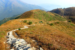 Twisting mountain path. For hiking Royalty Free Stock Images