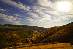 The twisting road in the mountains Royalty Free Stock Images
