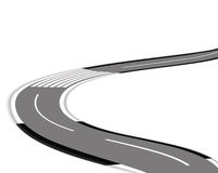 Twisting road over white background Royalty Free Stock Images