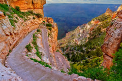 Twisting South Kaibab Trail at Grand Canyon Arizona stock image