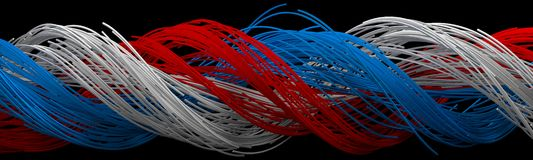 Twisting square shaped wires Stock Image