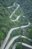 Twisting and Winding Road Royalty Free Stock Photos