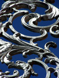 Twists and Turns. Decorative curves in fencing grate Royalty Free Stock Photography