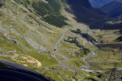 Twists and turns on the Transfagarasan Stock Images