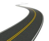Twisty asphalt road. White background(3d render Royalty Free Stock Image