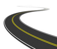Twisty asphalt road. White background(3d Stock Images