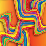 Twisty Beach Towels. Overlapping striped beach towels are featured in an abstract background illustration Stock Images