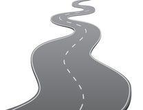 Twisty Road. Twisty asphalt road over white background Stock Photo