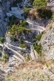 Twisty road on Capri island Stock Images