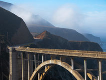 Twisty Road To Bixby Bridge Stock Photos