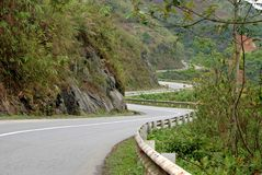 Twisty road to Sapa Royalty Free Stock Photo