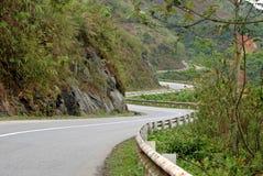 Twisty road to Sapa royalty free stock photo