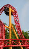 Twisty roller coaster ride Royalty Free Stock Images